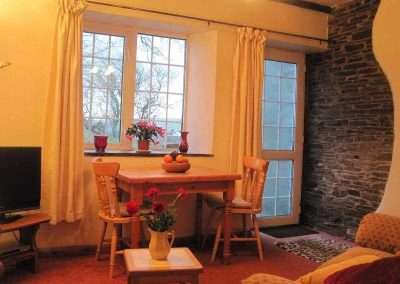 Old dairy living and dining room